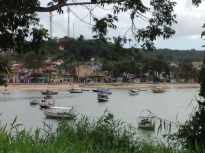View of town from opposite beach.
